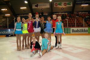 Elin, Alexandra, Idun, Hedvig, Ingun, Lisa, Carly, Johanna, Oda og Eirill