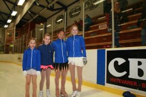 Amalie, Oda, Ingunn og Tiril