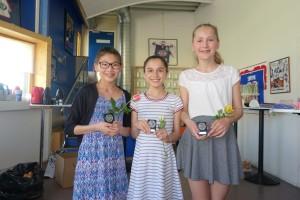 Debs: klubbmester Lisa, 2. plass Alexandra og 3. plass Idun