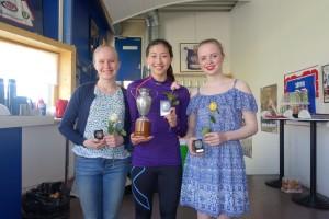 Junior: klubbmester Ellen, 2. plass Ida og 3. plass Mathilde